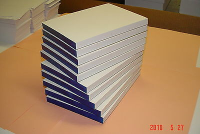 12 Scratch Pads Blank 5x7 White 100 Sheets per Pad, Made in USA