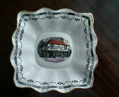 """Vintage Bone China Candy Dish """"The Old Curiosity Shop """" Made In England"""