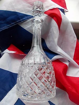 Galway Irish Crystal Whiskey Glass Decanter & Stopper ==VGC
