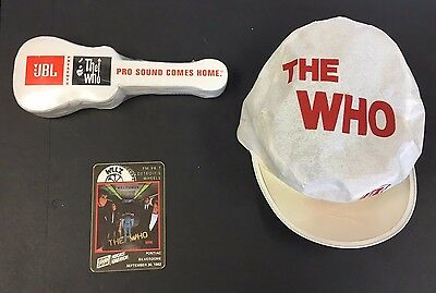 The Who Rock Music Concert Hat Pro Sound T-Shirt 1982 Vintage Decal America
