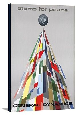 General Dynamics Atoms for Peace Nitsche 1955 (16x24 Stretch Canvas)