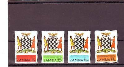 a128 - ZAMBIA - SG321-324 MNH 1980 ZAMBIA COAT OF ARMS
