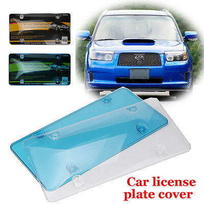"""Clear Plastic Tinted Smoke License Plate Tag Frame Cover Shield Car Truck 6""""x12'"""