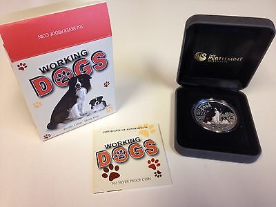 Perth Mint Working Dog Coin Border Collie Sheep Dog
