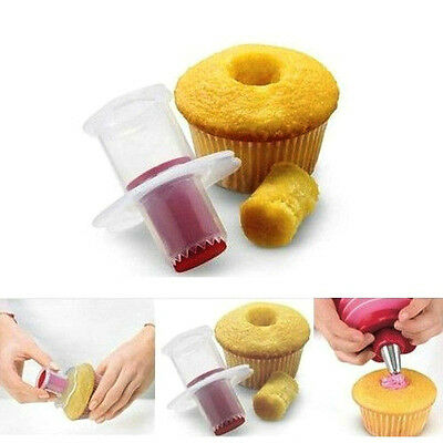 Kitchen Muffin Cake Corer Plunger Cutter Pastry Decorating Divider Model Cupcake