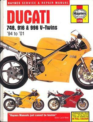 Ducati 996,916,748 Biposto,s,sp,sps,strada Haynes Workshop Manual1994-2001