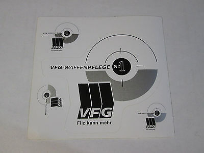 VFG Weaponcare manufacturing stickers