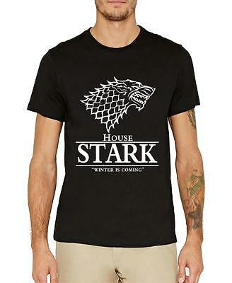 Game Of Thrones Winter Is Coming T Shirt Men Short Sleeve The House of Stark