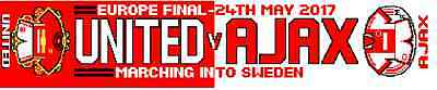 United v Ajax Europa Cup final scarf. Matchday souvenir Collectable item.WINNERS