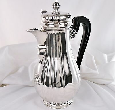 CARDEILHAC Rare ANTIQUE FRENCH STERLING SILVER Large COFFEE or TEA  POT 23oz