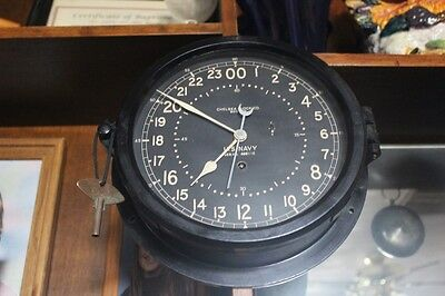 Milirary Navy Chelsea Wwii Ships Clock