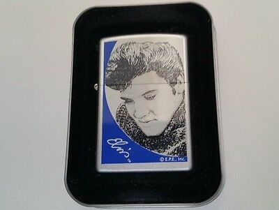 Zippo Lighter Licensed Elvis Presley in Sweater 2000 New in tin with sleeve
