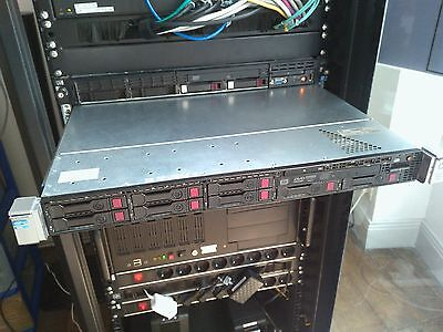 HP Proliant DL360p Gen8 2x Xeon 32 Core E5-2650 2Ghz 56Gb Ram DDR3 & Rail