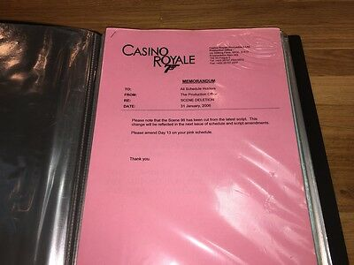 Casino Royale (2006) Rare Orig. Production Binder Of Shooting Schedules!