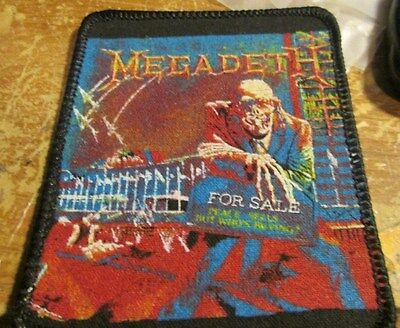 Megadeth Collectable Vintage Patch  Woven  English Picture