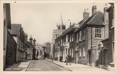 CPA ANGLETERRE ENGLAND AYLESBURY church street stamped 1963