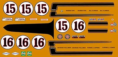 #15 & 16 Bud Moore Engineering Mustang Trans Am 1/24th - 1/25th Scale Decals