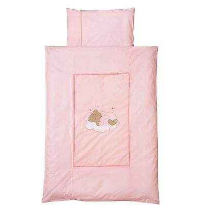 Easy-Baby Bettwäsche 80x80 / 35x40 cm  Sleeping bear rose 415-82