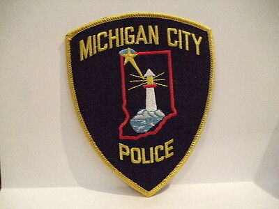 police patch  MICHIGAN CITY POLICE INDIANA