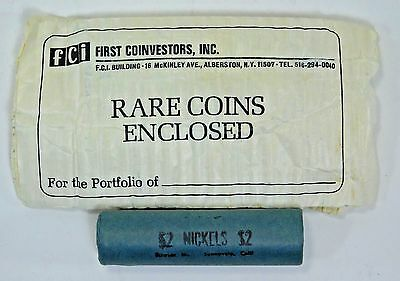 Vintage Rare Unopened Nickel Coin Roll 1943 D Original Wrap $2 Collection Set N2
