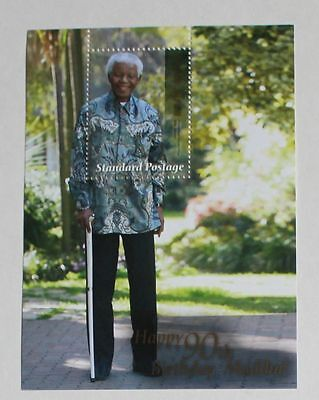 South Africa Stamp 2008 Happy Birthday 90 years Madiba Souvenir Sheet. MNH