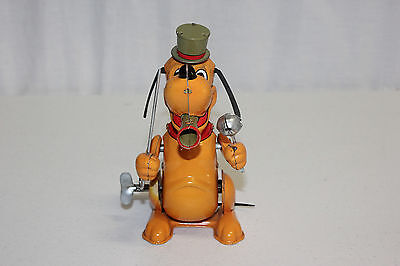 Vintage Marx Japan Walt Disney Tin Litho Wind Up Pluto Drum Major Works EX L@@K