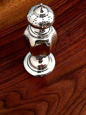 J.M. Van Kempen & Zoon ? Dutch Silver Spice or Salt Shaker 1855 No Monograms