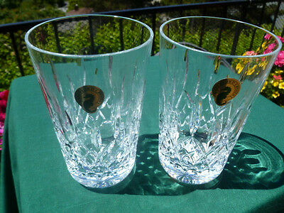 Waterford LISMORE 12 oz Tumblers (Set of 2) - Mint with Stickers - Free USA Ship