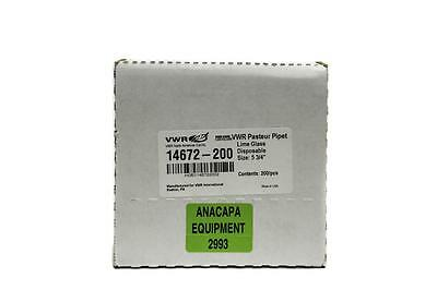 """VWR Lime Glass Disposable Pasteur Pipets 5-3/4"""" 14672-200 Lot of 800 (2993)"""