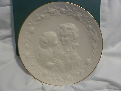Lenox The Children's Hour Mother's Bouquet Bisque Finish Plate w/Box 1994