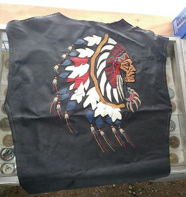 Handmade Indian chief leather patchwork back patch