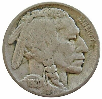 1920 S United States Buffalo Nickel Coin Fine Condition
