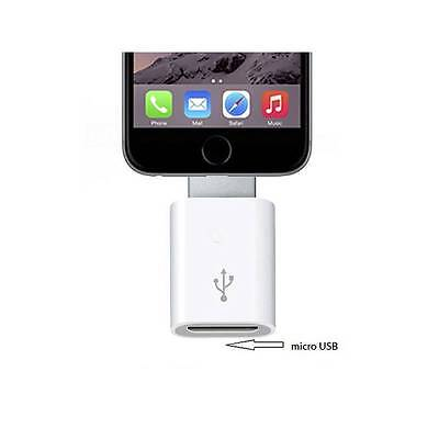 Adaptador Conversor Micro USB a Lightning 8 pin para iPhone 7 6 plus 5 5s 5c 6s