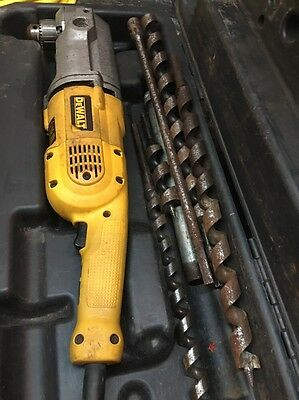 """DEWALT DW124 1/2"""" Right Angle Drill With Extra Drill Bits"""