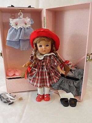Effanbee Patricia Kins Doll Trunk Set 1999 Reproduction with 2 Extra Outfits