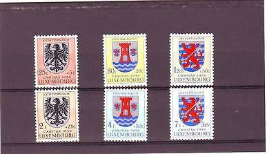 a102- LUXEMBOURG - SG615-620 MNH 1956 NATIONAL WELFARE FUND - ARMS