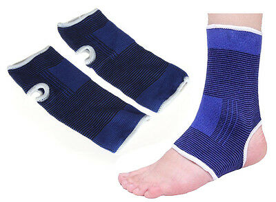 2 Stretch Elastic Ankle Support Protection Arc Brace Wrap Guard Sports Gym Blue