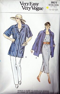 ~Very Easy Very VOGUE Sewing Pattern 9921 Shirt, Dress, Top & Pants Size 8-12~