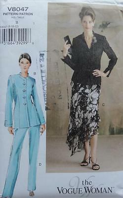 ~The VOGUE Woman Sewing Pattern 8047 Lined Jacket, Skirt & Pants S 8-12~