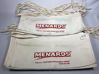 "32 Menards - ""For all your home improvement needs"" Canvas Nail Apron Bag lot"