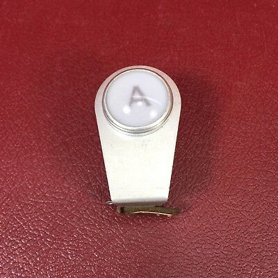 "Vintage Drake 1"" letter A Frosted Panel Mount Indicator Lamp Light 75W 125V A400"