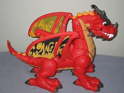 Fisher Price Imaginext Red Winged Eagle Talon Castle Dragon With Sounds