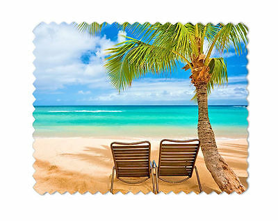 Beach Chairs Palm Tree Lens Sunglasses  Eye Glasses Cleaning Cloth