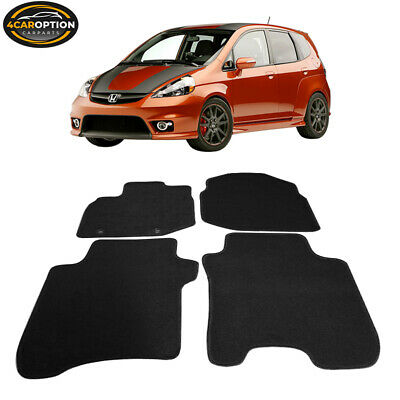 Fits 06-12 Honda Fit 4Dr Floor Mats Carpet Front & Rear Nylon Black 4PC