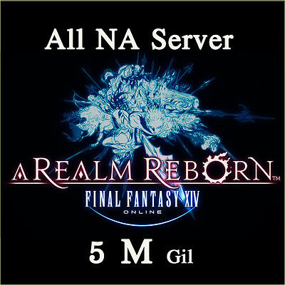 FINAL FANTASY XIV 5000000 GIL FF14 5 Million Gold FFXIV All NA Server PC PS4