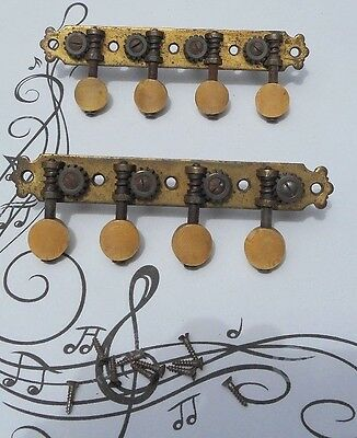 Antique Brass Mandolin Tuning Pegs W/Screws