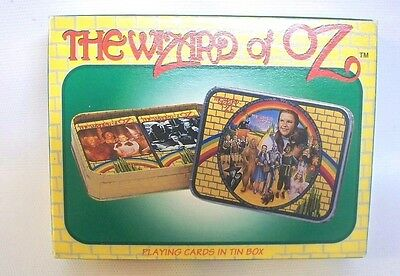Wizard of Oz Sealed Playing Cards in Decorative Tin - Enesco 1995