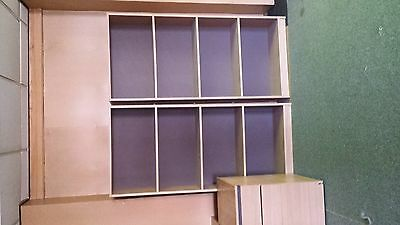 18 x Book cases ( 2  / 3  / 4 shelves . job lot , lots of office furniture