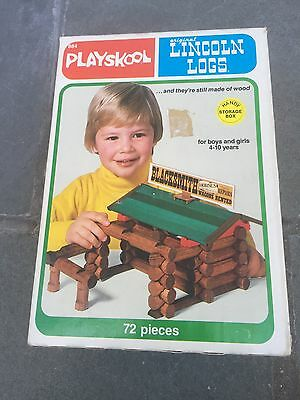 Playskool Original Lincoln Logs With Storage Box Assorted Pieces