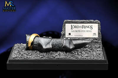 Master Replicas Lord of the Rings, The One Ring of Sauron Finger NEW in Box COA